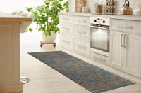 PESHAWAR LIGHT BLUE Kitchen Mat By Kavka Designs