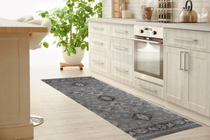 MAHAL GREY Kitchen Mat By Kavka Designs