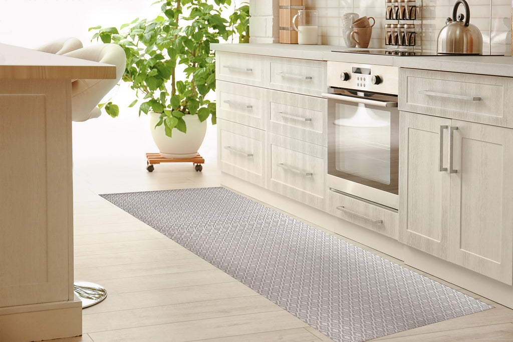 DOTTED GEO CRéME Kitchen Mat By Lemon Lovegood
