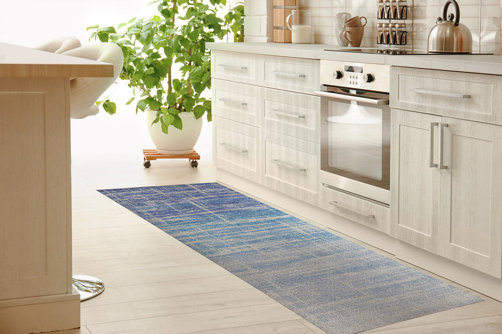 SALISBURY BLUE Kitchen Mat By Marina Gutierrez