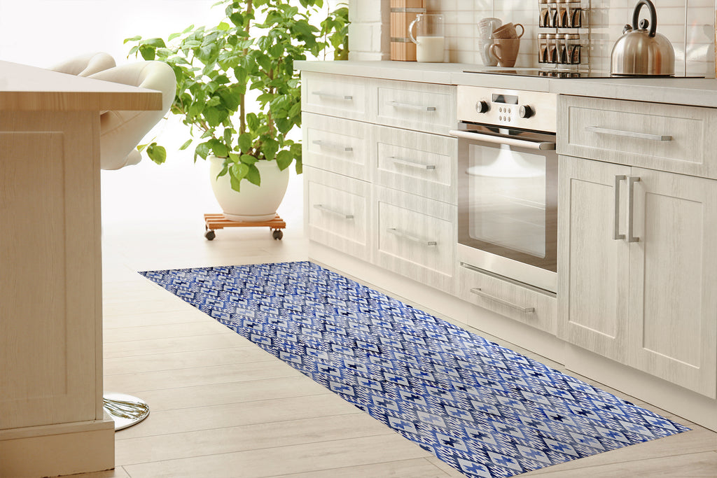 ARROWHEAD BLUE Kitchen Mat By Marina Gutierrez