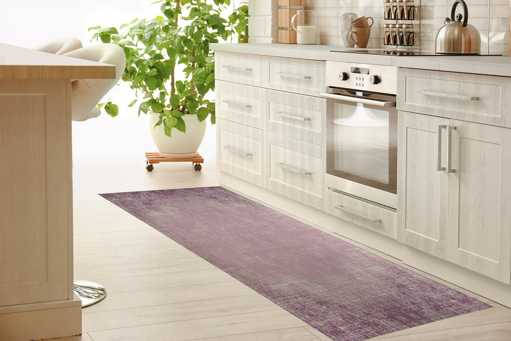 PURPLE DISTRESSED Kitchen Mat By Michelle Parascandolo