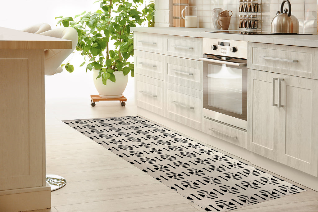 SAMSUN COLOR WAR Kitchen Mat By Michelle Parascandolo