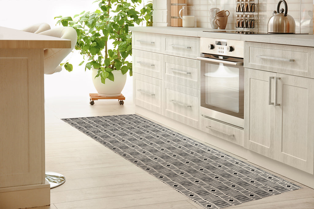 MERSIN COLOR WAR Kitchen Mat By Michelle Parascandolo