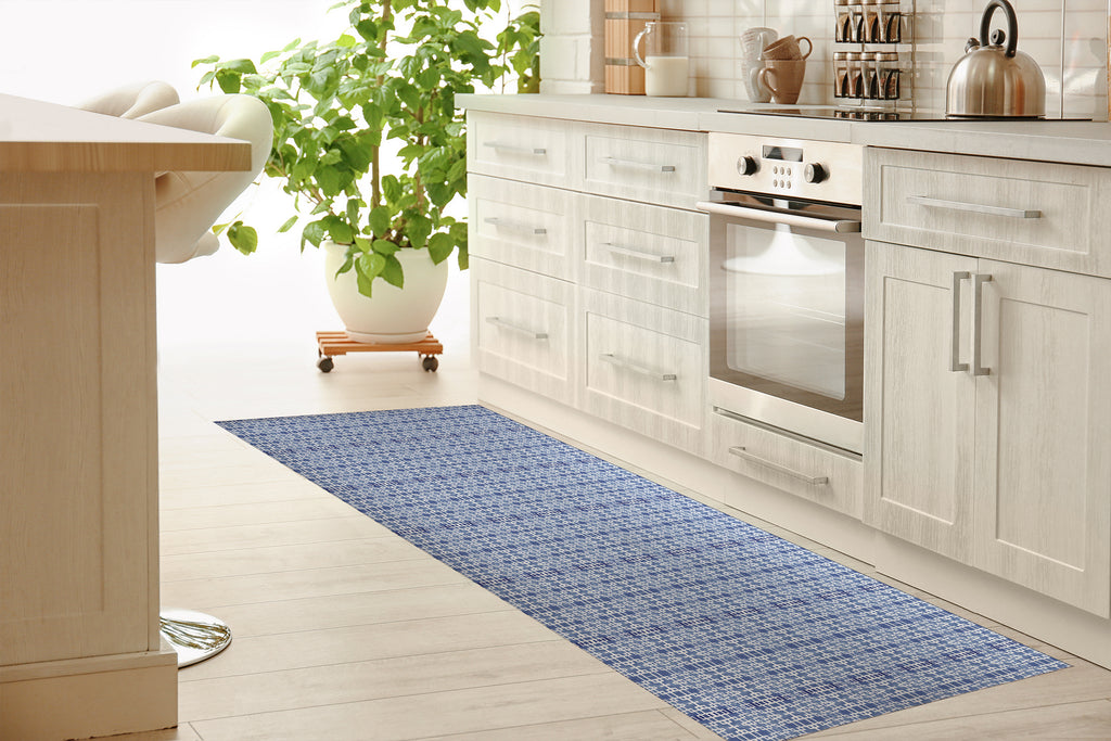 RIMINI BLUE Kitchen Mat By Michelle Parascandolo