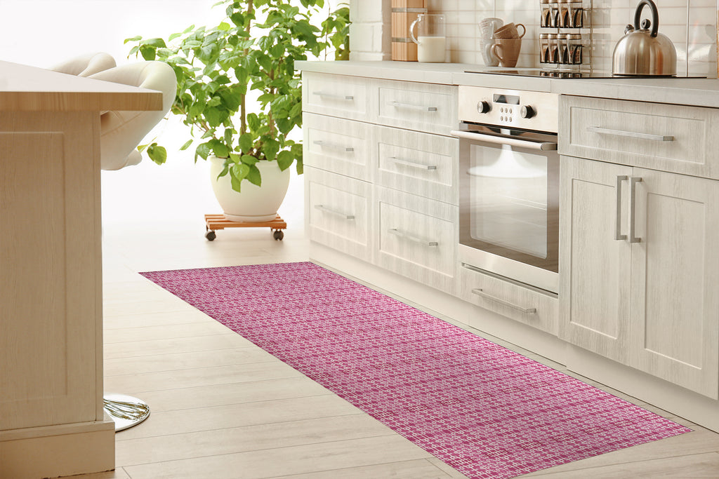 RIMINI PINK Kitchen Mat By Michelle Parascandolo
