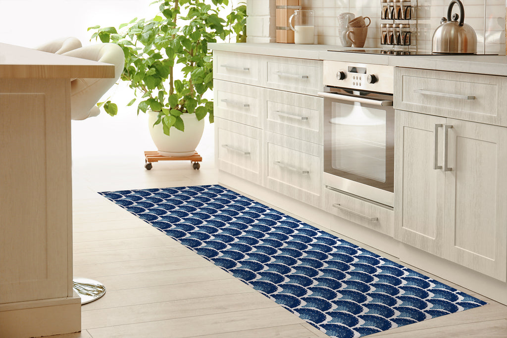 SOUTHAMPTON NAVY Kitchen Mat By Michelle Parascandolo