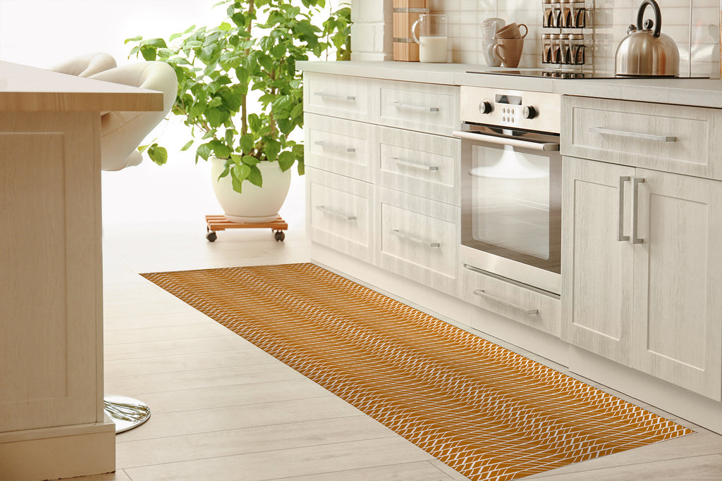VARIA ORANGE Kitchen Mat By Michelle Parascandolo