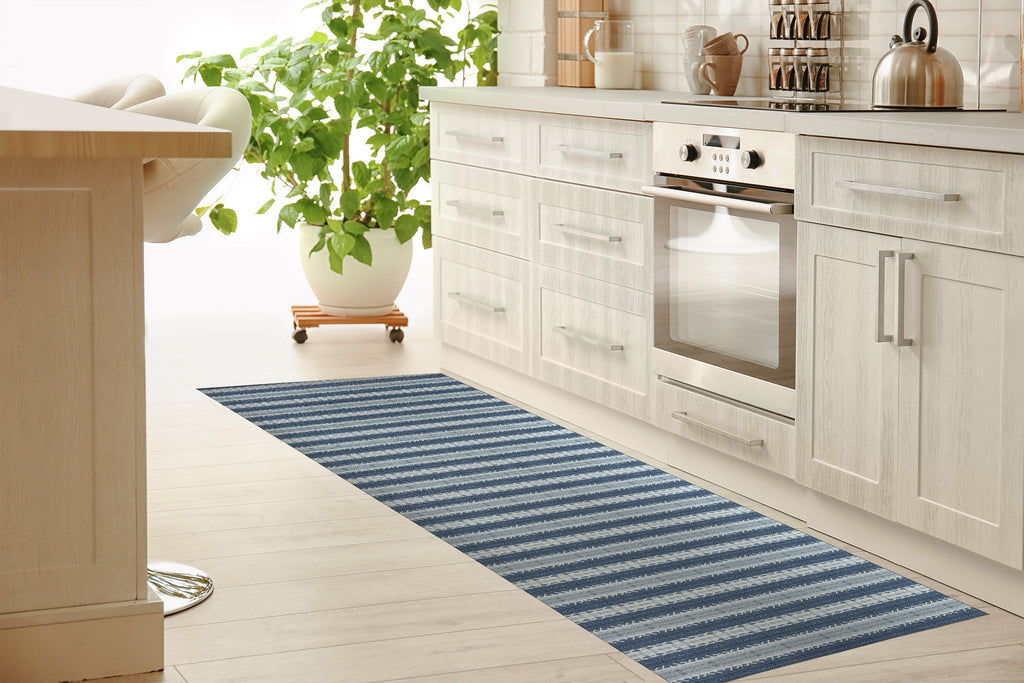 VOLOS BLUE Kitchen Mat By Michelle Parascandolo