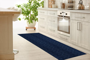 DELPHI BLUE Kitchen Mat By Michelle Parascandolo