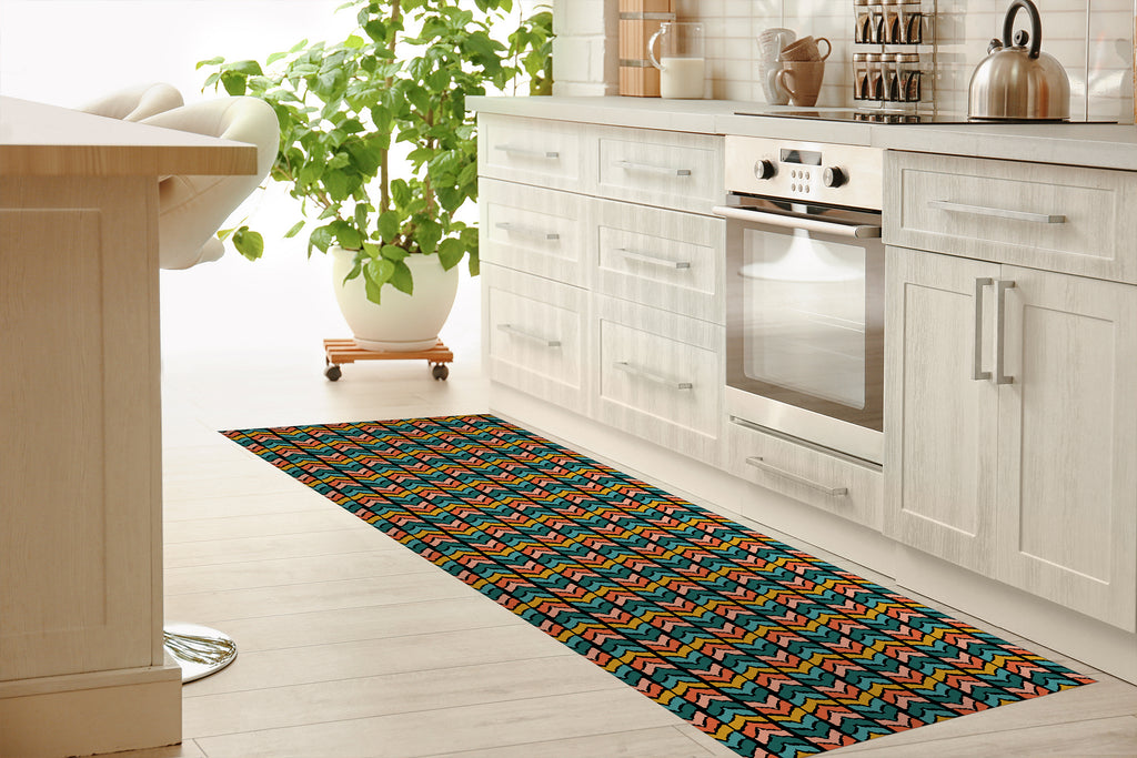 SOPRON DARK Kitchen Mat By Michelle Parascandolo