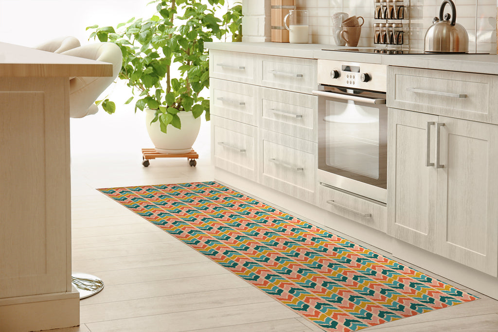 SOPRON LIGHT Kitchen Mat By Michelle Parascandolo