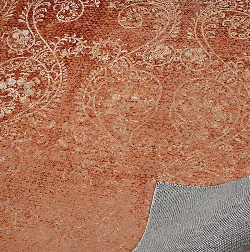 CLEO BURNT ORANGE Kitchen Mat By Terri Ellis