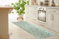 AUTUMN SPRING GREEN Kitchen Mat By Tiffany Wong