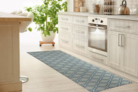 ADVENTURE BLUE Kitchen Mat By Tiffany Wong