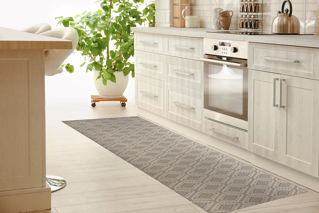 ADVENTURE NATURAL Kitchen Mat By Tiffany Wong