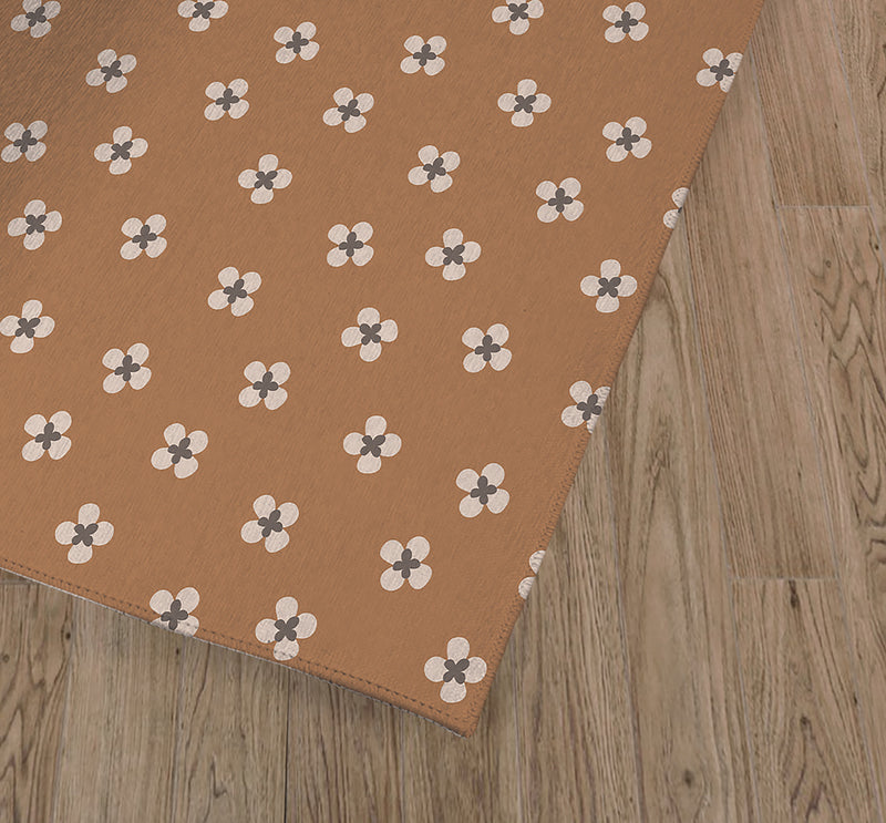 DAINTY CAMEL Kitchen Mat By Tiffany Wong