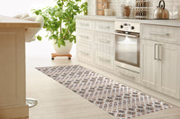 FOLKLORE NEUTRAL Kitchen Mat By Tiffany Wong