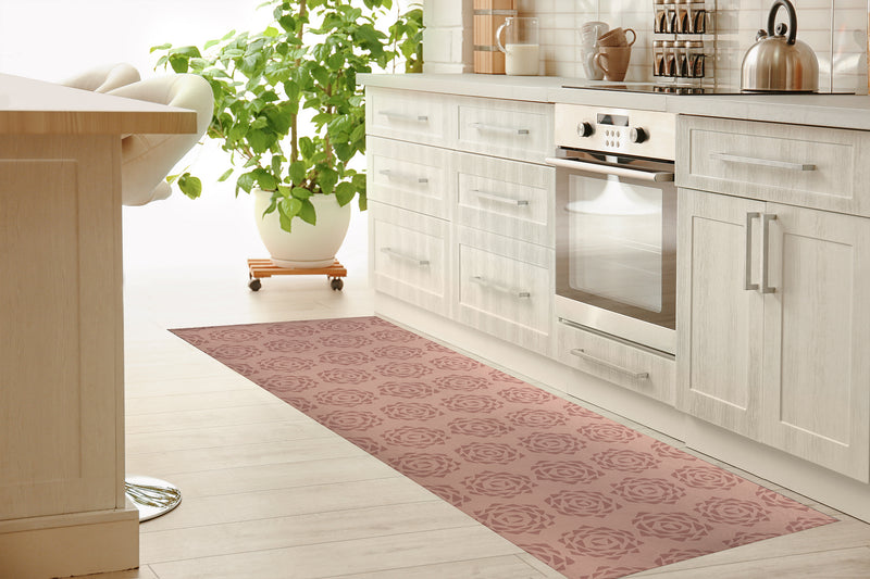 GRENADA BLUSH Kitchen Mat By Tiffany Wong