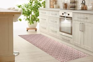 SWEETHEART BLUSH Kitchen Mat By Tiffany Wong