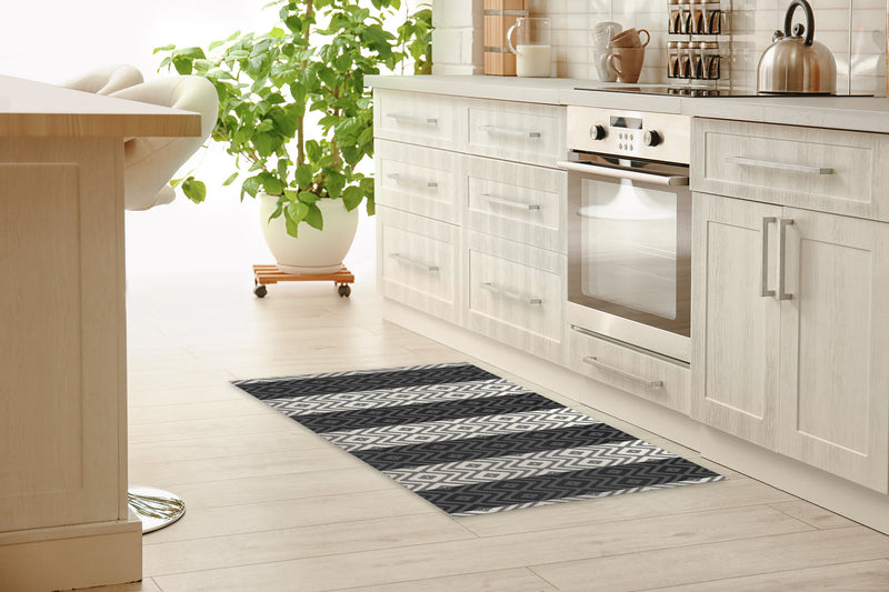 RATTAN CHARCOAL Kitchen Runner By Kavka Designs