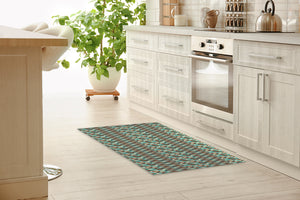 STEPPING STONE TEAL Kitchen Runner By Kavka Designs