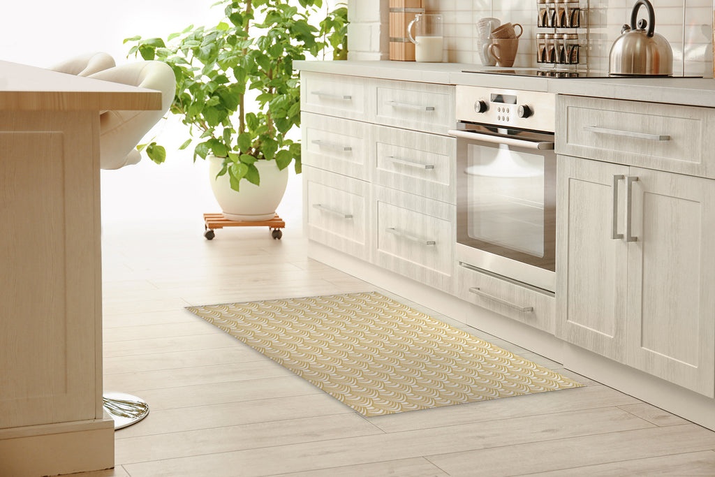 SYNC GOLD Kitchen Mat By Becky Bailey