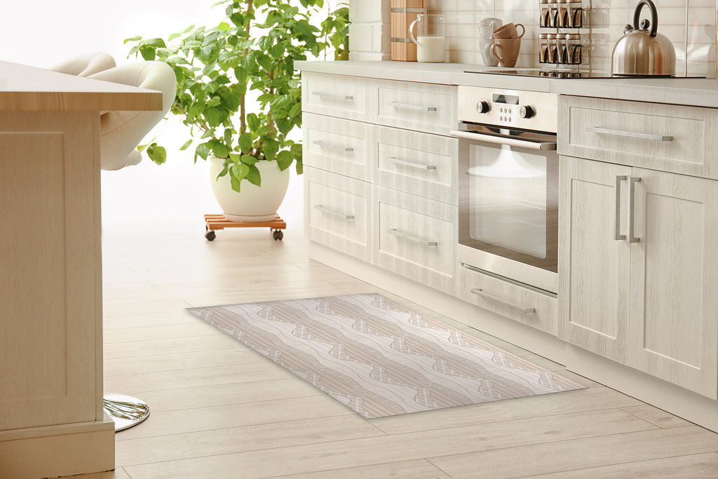WRAP TAN Kitchen Mat By Becky Bailey