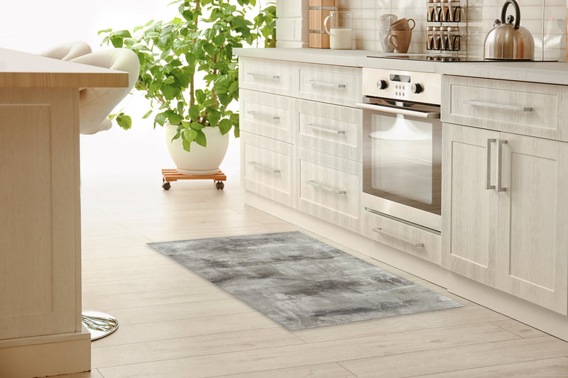 CLOUD SHADOWS GREY Kitchen Mat By Hope Bainbridge