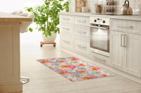 FLORAL LOVE BLUSH Kitchen Mat By Jackii Greener