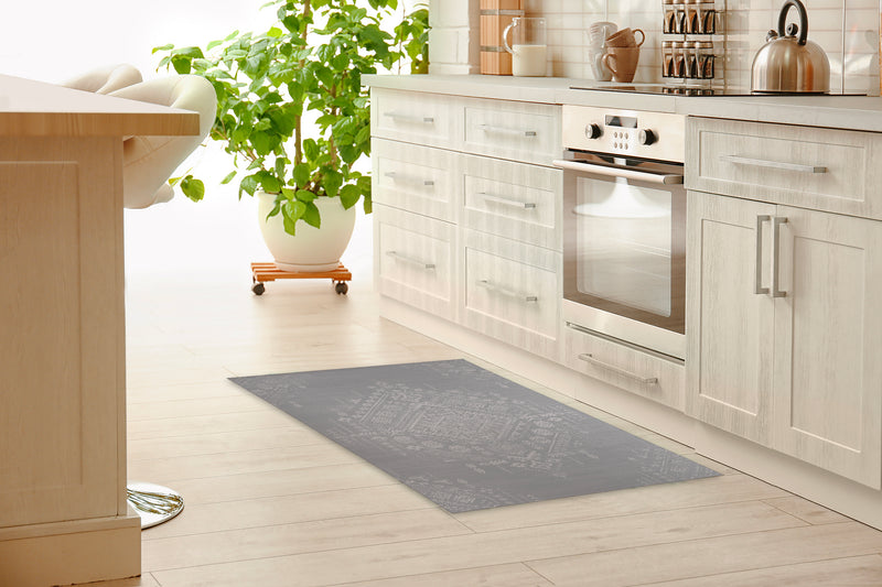 SABRA GREY Kitchen Mat By Kavka Designs