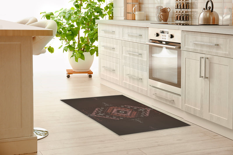 ZINA BROWN Kitchen Mat By Kavka Designs