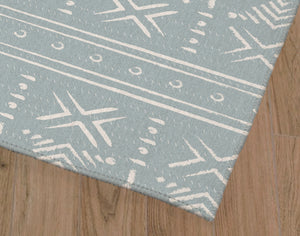 SIERRA LIGHT BLUE Kitchen Mat By Kavka Designs