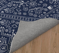 TEMBLANT NAVY Kitchen Mat By Kavka Designs