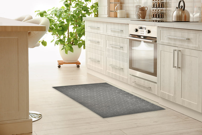 AALIYAH GRAY Kitchen Mat By Kavka Designs