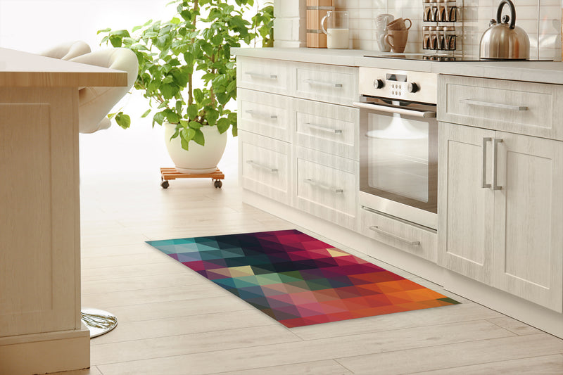 MANY COLORS Kitchen Mat By Terri Ellis