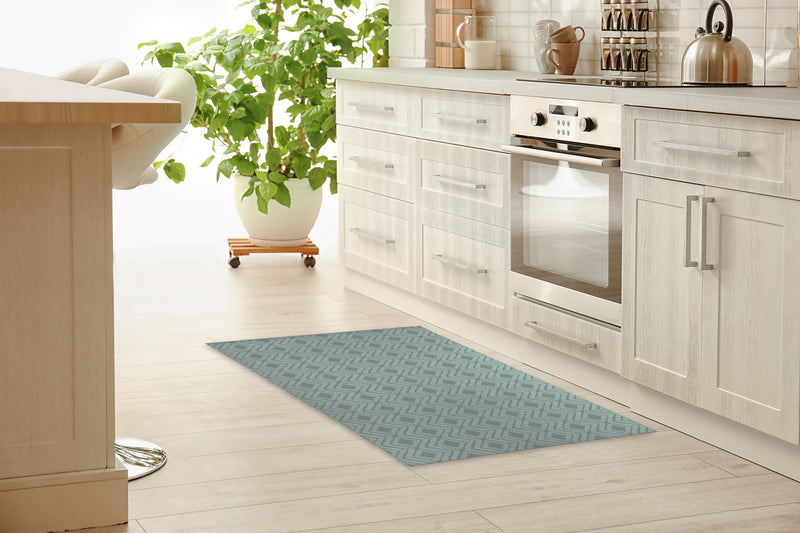 RETREAT GREEN Kitchen Mat By Tiffany Wong
