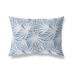 PALM BALM BLUE Lumbar Pillow By Terri Ellis