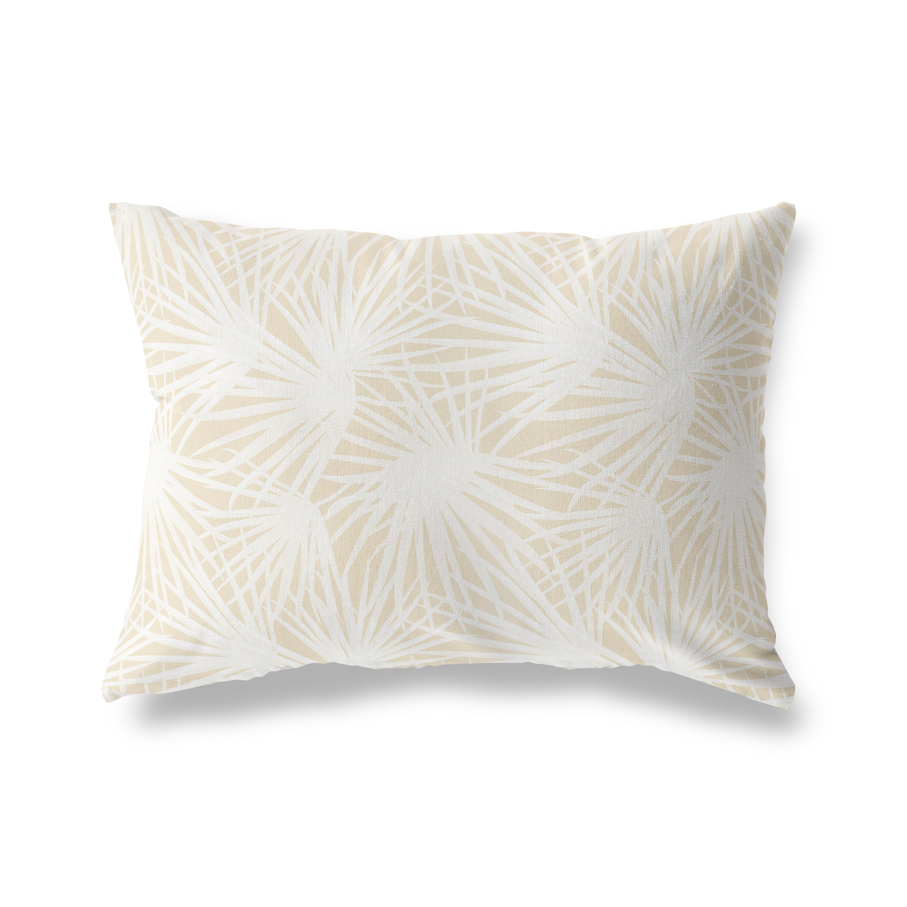 PALM BALM OATMEAL Lumbar Pillow By Terri Ellis