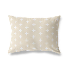 CRISS CROSS CREAM Lumbar Pillow By Terri Ellis