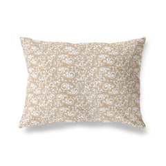 PLUMERIA TAN Lumbar Pillow By Terri Ellis