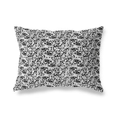 PLUMERIA WHITE Lumbar Pillow By Terri Ellis