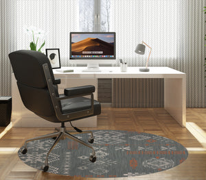 SABINA CHARCOAL Office Mat By Kavka Designs