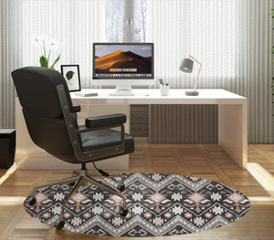 BELLA BLACK DISTRESSED Office Mat By Terri Ellis