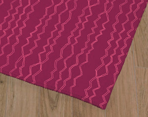 BERBER STRIPE MAGENTA Office Mat By Becky Bailey