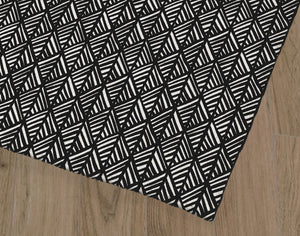 ABSTRACT LEAF BLACK Office Mat By Becky Bailey