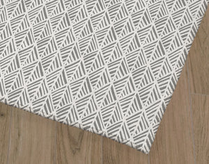ABSTRACT LEAF GREY Office Mat By Becky Bailey