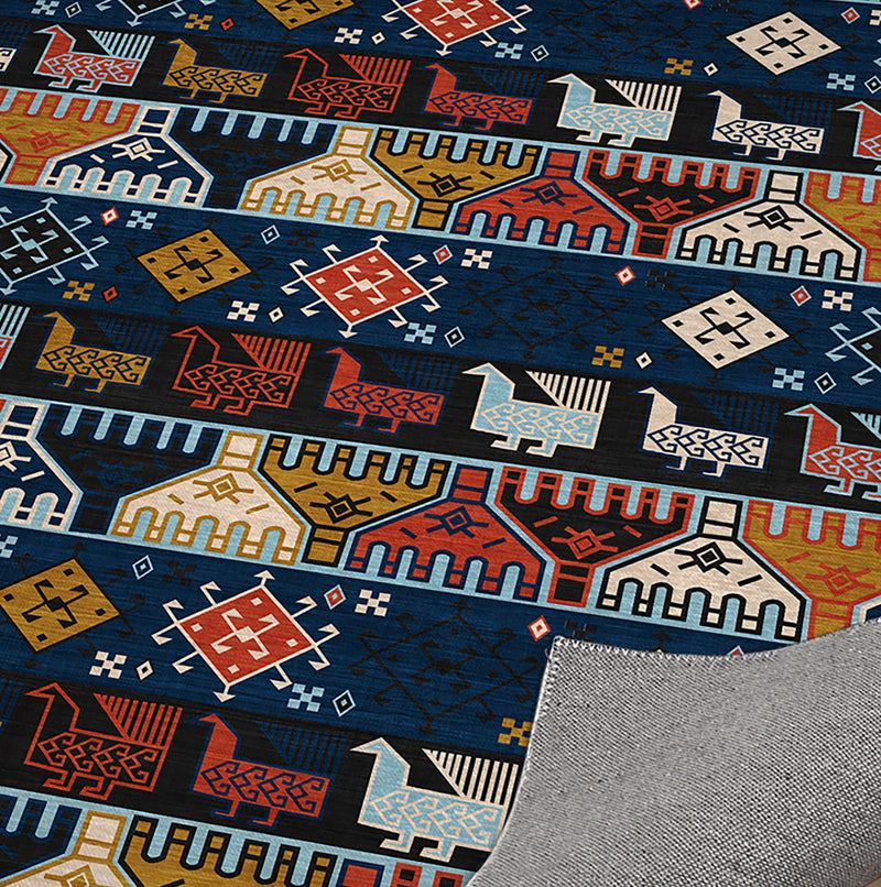 DENA BLUE Office Mat By Becky Bailey