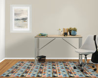DENA LIGHT BLUE Office Mat By Becky Bailey