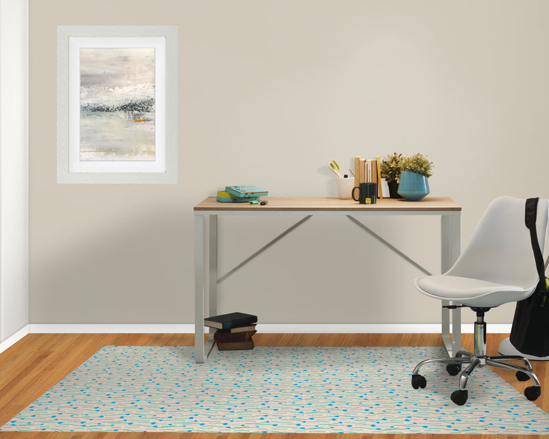 FIELD OF FLOWERS GREY Office Mat By Hope Bainbridge